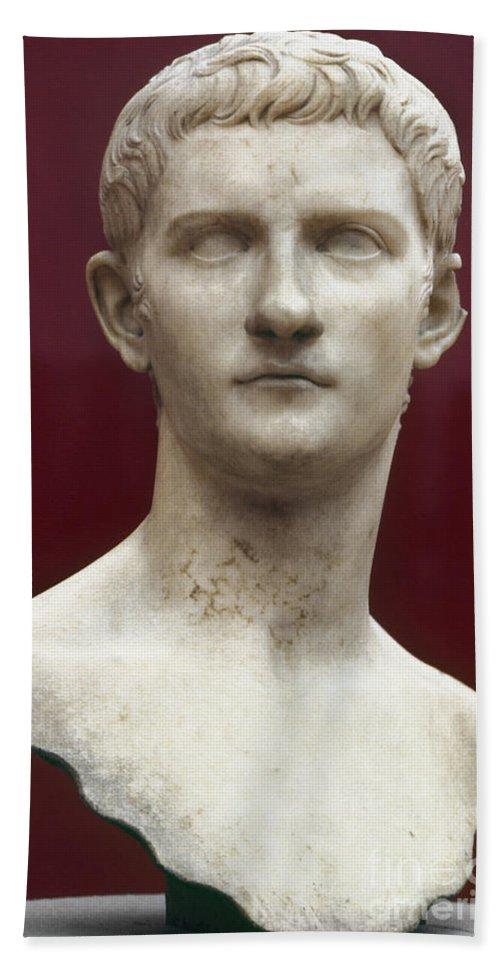 1st Century Beach Towel featuring the photograph Caligula (12-41 A.d.) by Granger