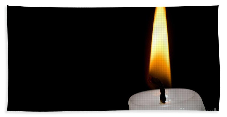 Candle Beach Towel featuring the photograph Candlelight by Mats Silvan