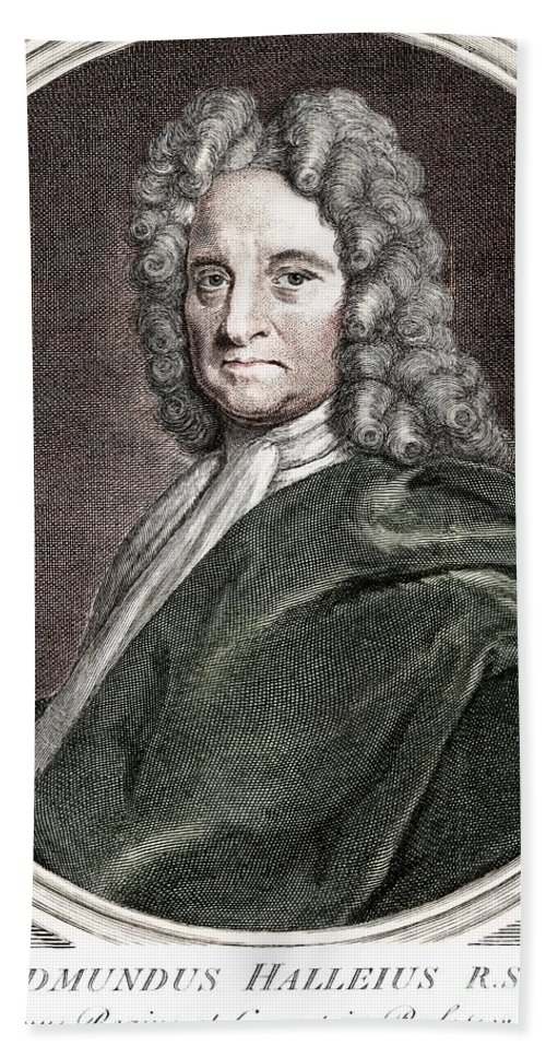 Science Beach Towel featuring the photograph Edmond Halley, English Polymath by Science Source