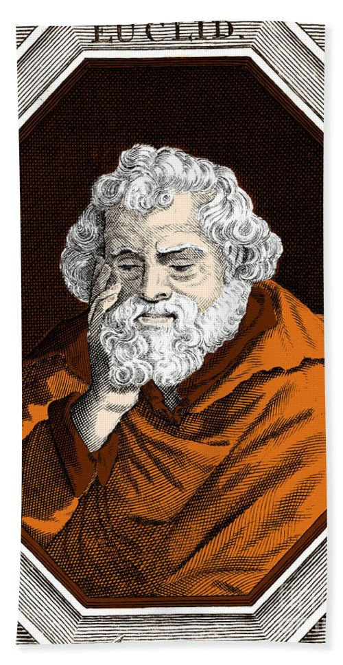 Science Beach Towel featuring the photograph Euclid, Ancient Greek Mathematician by Science Source