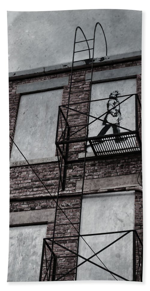 Jerry Cordeiro Photographs Photographs Framed Prints Beach Towel featuring the photograph Fire Escape by The Artist Project