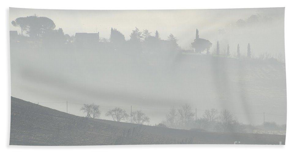 Fog Beach Towel featuring the photograph Foggy Day by Mats Silvan
