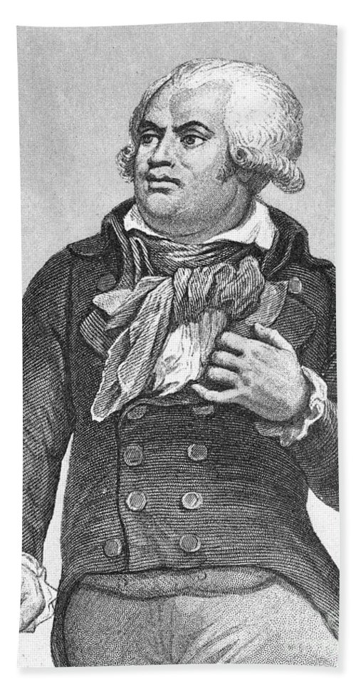 18th Century Beach Towel featuring the photograph Georges Danton (1759-1794) by Granger