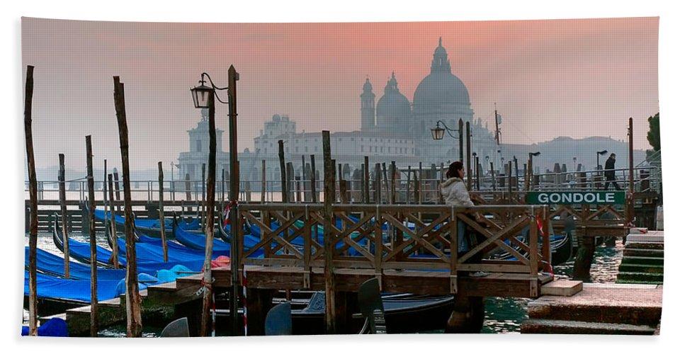 Venice Italy Beach Towel featuring the photograph Gondole. Venezia. by Juan Carlos Ferro Duque