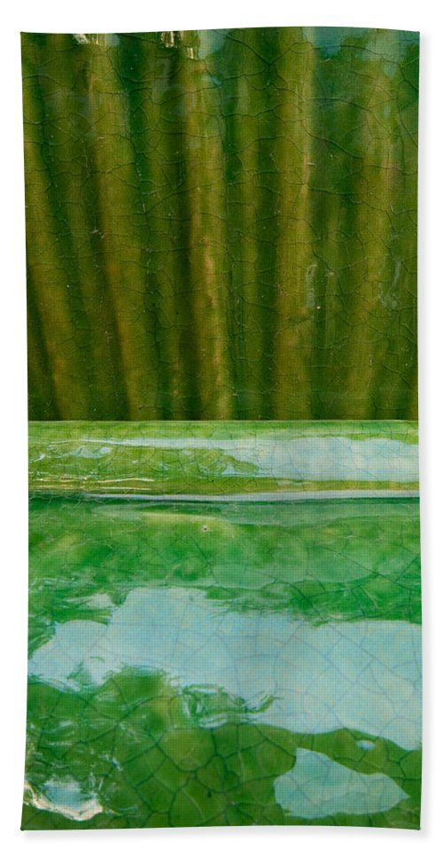 Abstract Beach Towel featuring the photograph Green Pottery by Sean Wray