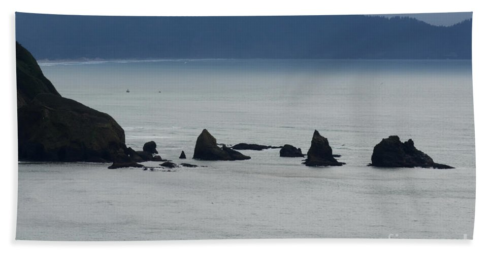 Window Rocks Beach Towel featuring the photograph Haystack Rocks by Bob Christopher