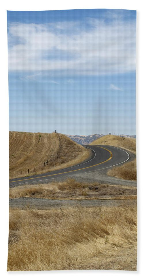 Landscape Beach Towel featuring the photograph Heading Inland by Kathleen Grace