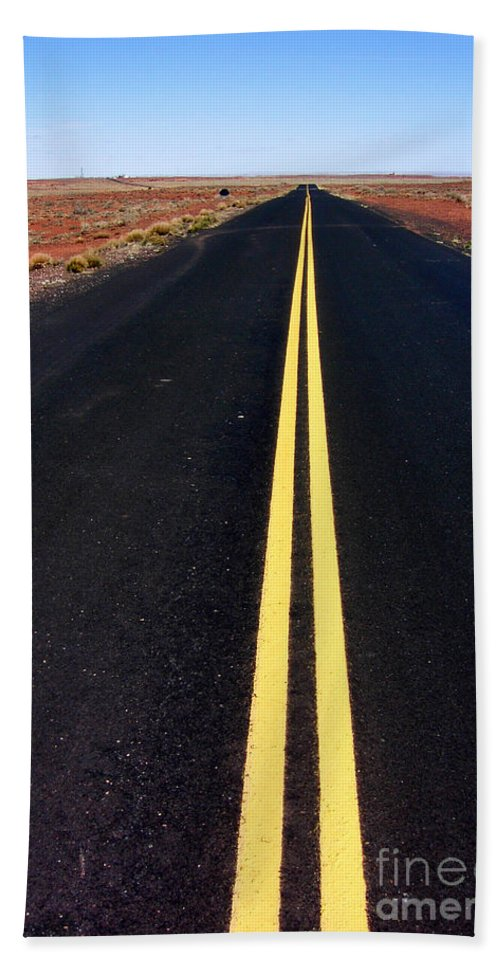 Highway Beach Towel featuring the photograph Highway To Nowhere by Mike Nellums
