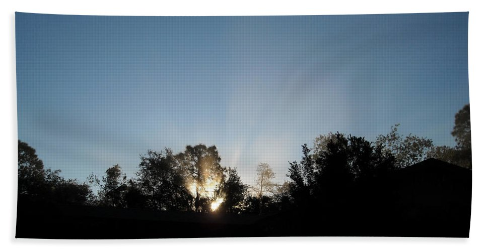 Silhouette Beach Towel featuring the photograph Home Sweet Home by Christine Stonebridge