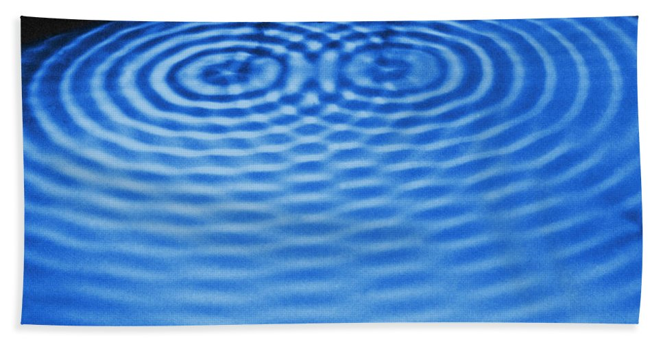 Ripples Beach Towel featuring the photograph Intersecting Ripples by Omikron