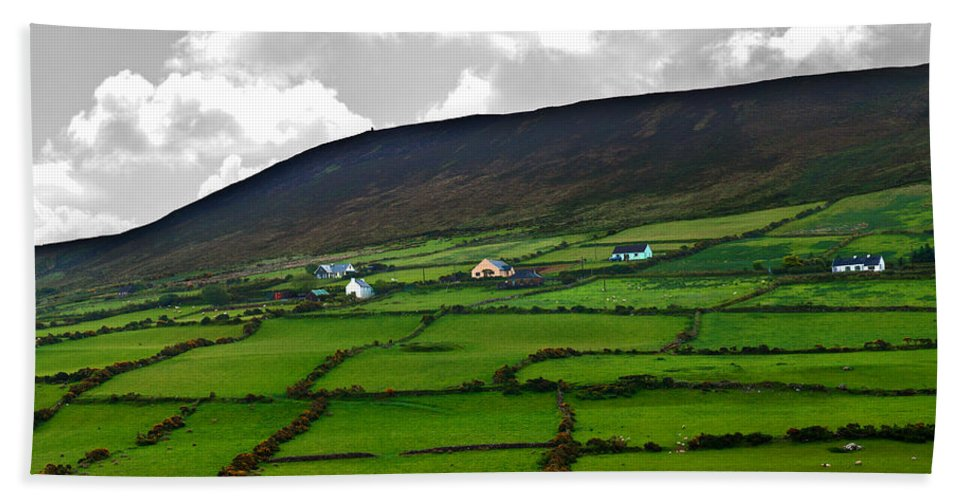 Ireland Beach Towel featuring the photograph Irish Countryside by Edward Peterson