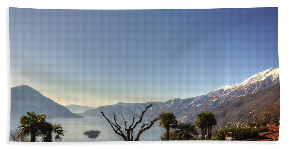 Islands Beach Towel featuring the photograph Islands On An Alpine Lake by Mats Silvan