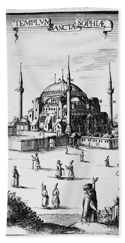 1680 Beach Towel featuring the photograph Istanbul: Hagia Sophia by Granger