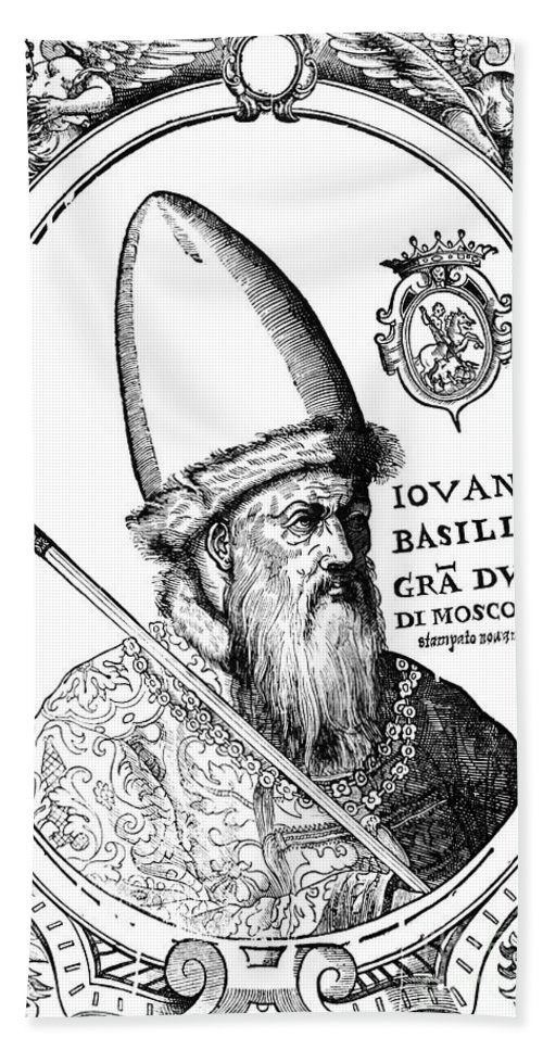 1582 Beach Towel featuring the photograph Ivan Iv Vasilevich (1530-1584) by Granger