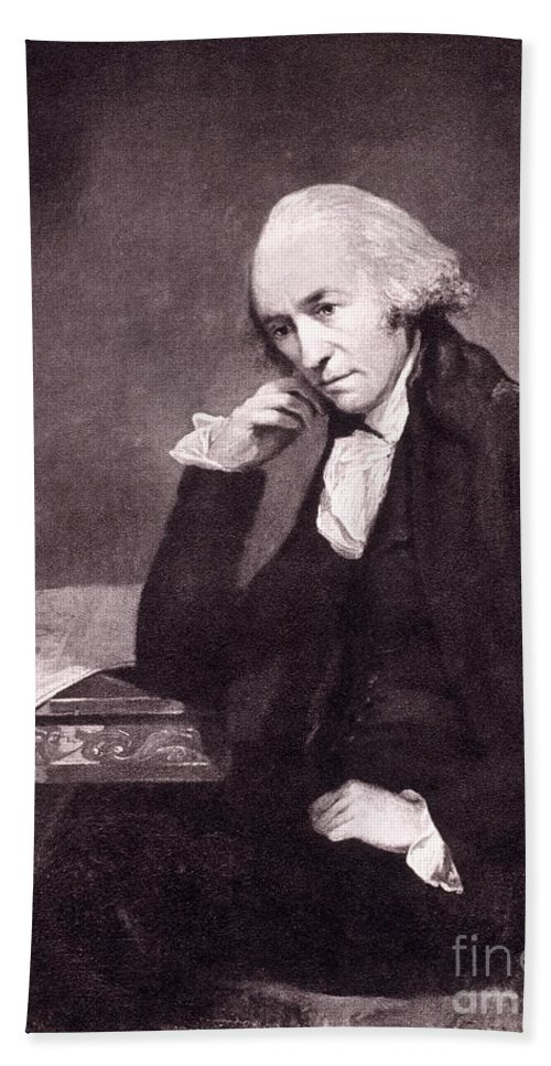 Science Beach Towel featuring the photograph James Watt, Scottish Inventor by Science Source