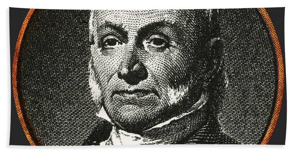 History Beach Towel featuring the photograph John Quincy Adams, 6th American by Photo Researchers