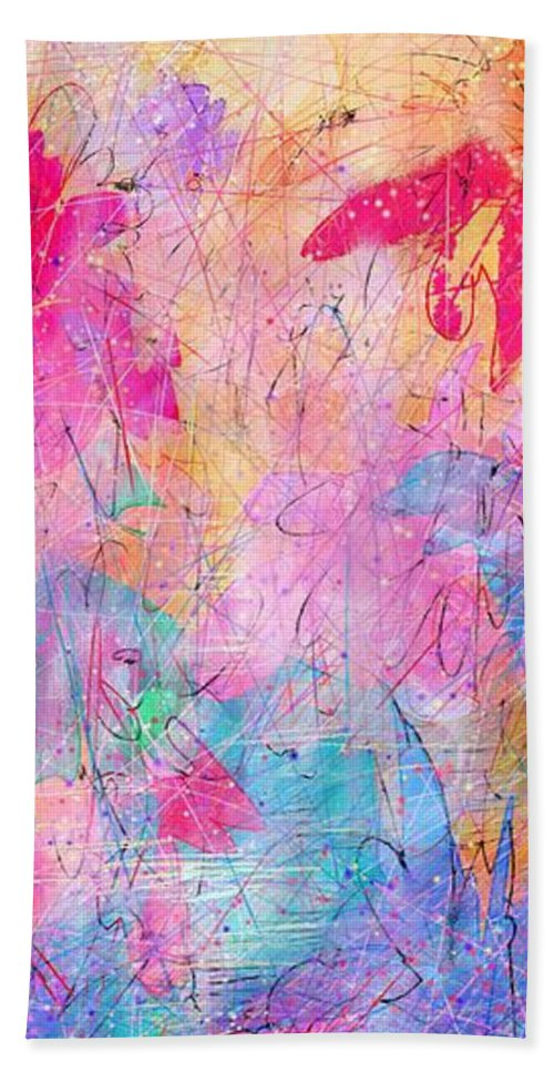 Abstract Beach Towel featuring the drawing Little Miracles by William Russell Nowicki