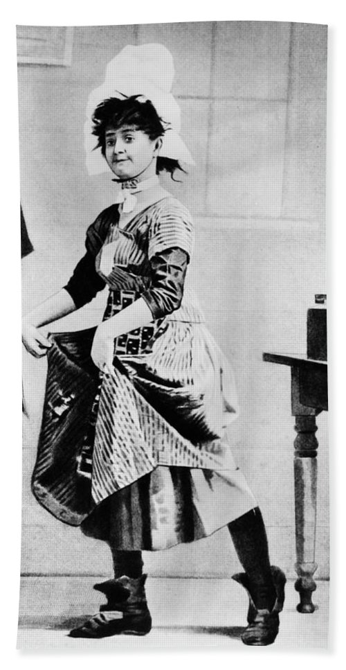 1888 Beach Towel featuring the photograph Lotta Crabtree (1847-1924) by Granger