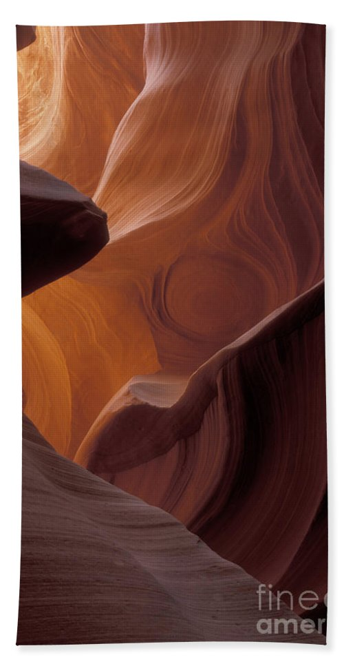 Bronstein Beach Towel featuring the photograph Lower Antelope Canyon by Sandra Bronstein