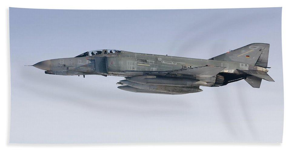 F-4 Phantom Beach Towel featuring the photograph Luftwaffe F-4f Phantom II by Gert Kromhout