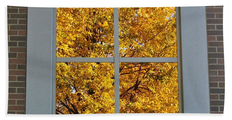 Autumn Beach Towel featuring the photograph Mirror Image by Frozen in Time Fine Art Photography