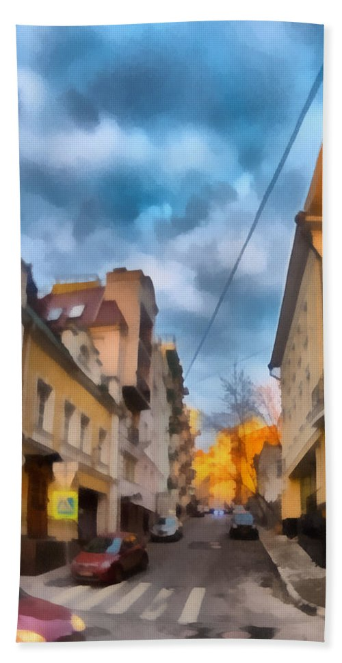 Art Beach Towel featuring the photograph Moscow's Streets by Michael Goyberg