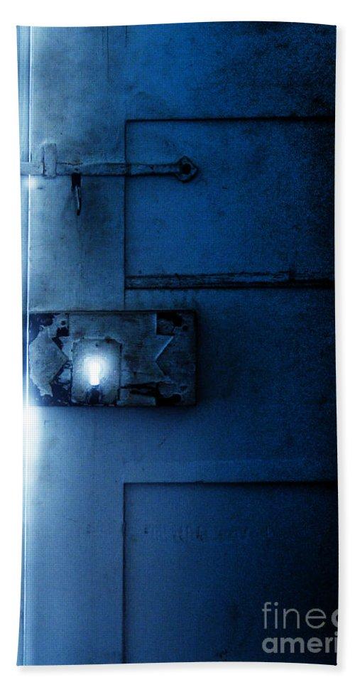 Dark Beach Towel featuring the photograph Mysterious Door by Jill Battaglia