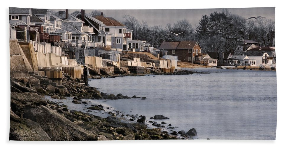 Seaside Beach Towel featuring the photograph Ocean Grove by Robin-Lee Vieira