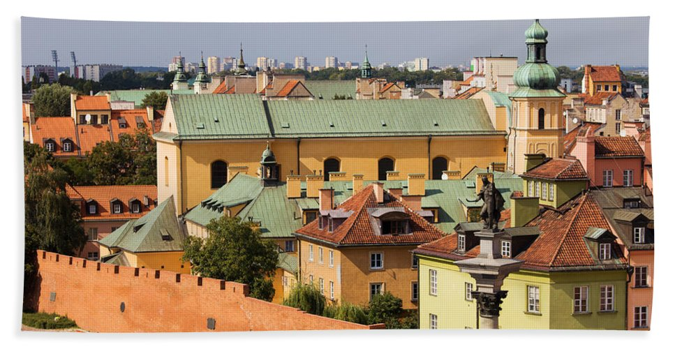 Architecture Beach Towel featuring the photograph Old Town In Warsaw by Artur Bogacki