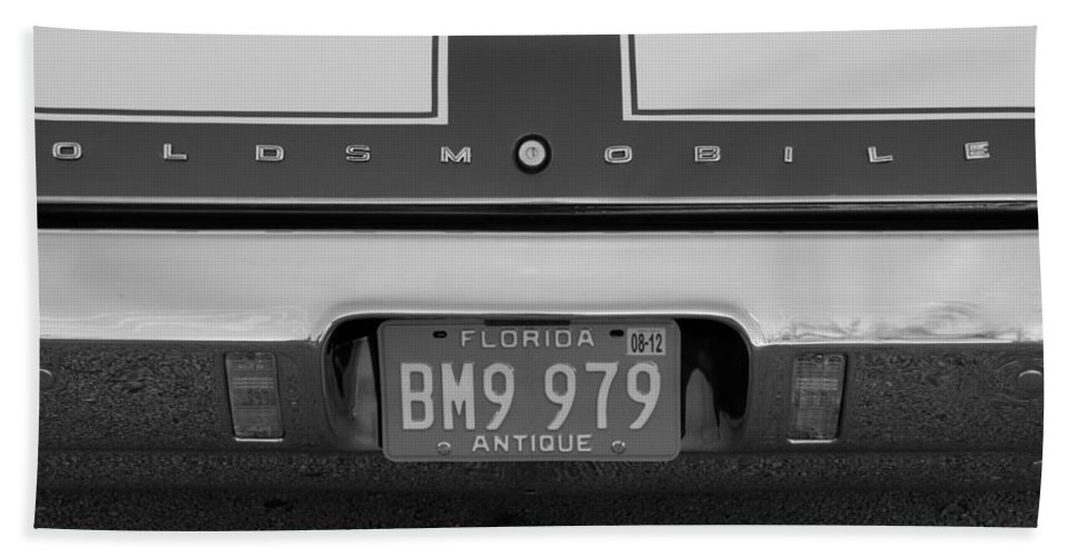 Oldsmobile Beach Towel featuring the photograph Olds Cs In Black And White by Rob Hans