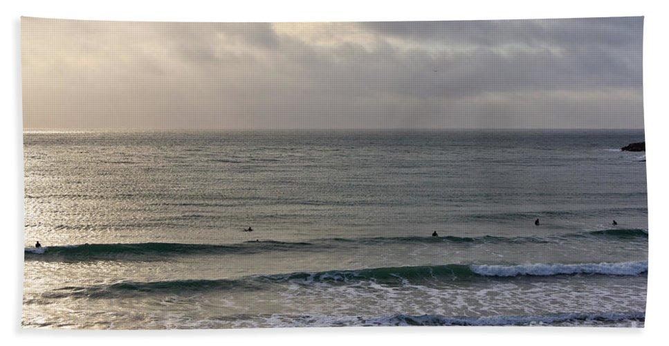 Praa Sands Cornwall Beach Towel featuring the photograph Praa Sands by Brian Roscorla