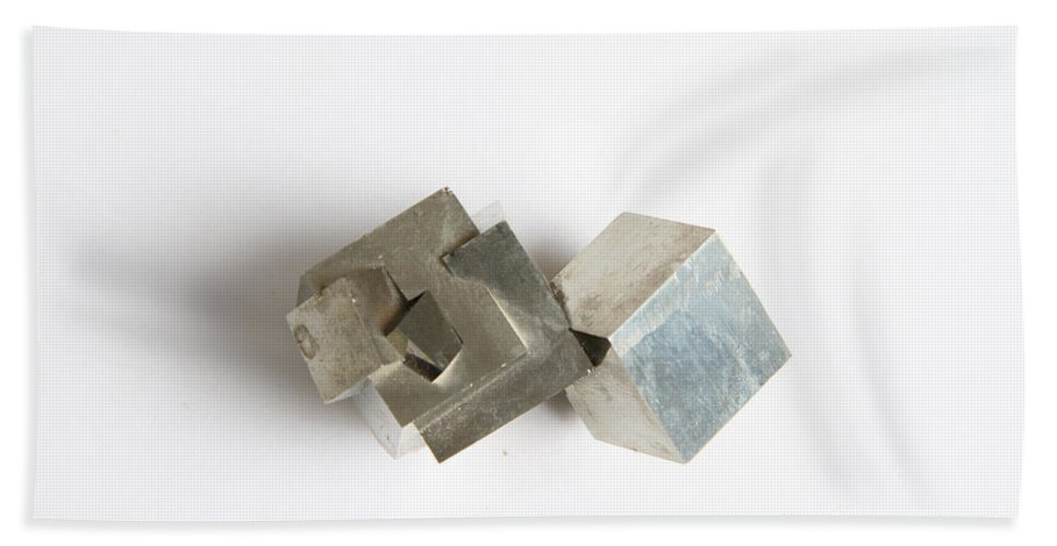 Still Life Beach Towel featuring the photograph Pyrite by Photo Researchers