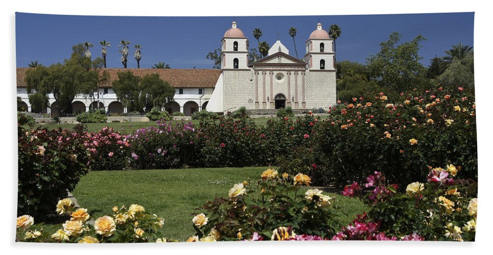 California Beach Towel featuring the photograph Queen Of The Spanish Missions by Michele Burgess