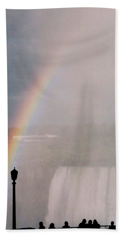 Waterfall Beach Towel featuring the photograph Rainbow Falls by Pharris Art