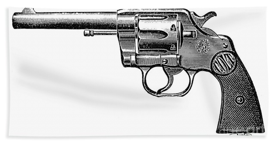 19th Century Beach Towel featuring the photograph Revolver, 19th Century by Granger