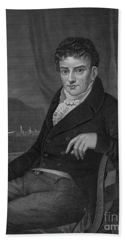 Art Beach Towel featuring the photograph Robert Fulton, American Engineer by Science Source