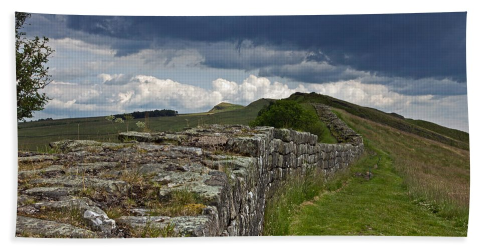 Hadrian Beach Towel featuring the photograph Roman Wall Country by David Pringle