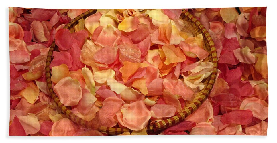Rose Beach Towel featuring the photograph Rose Petals by Dave Mills