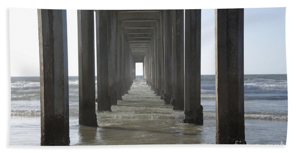 Scripps Pier Beach Towel featuring the photograph Scripps Pier La Jolla California 5 by Bob Christopher