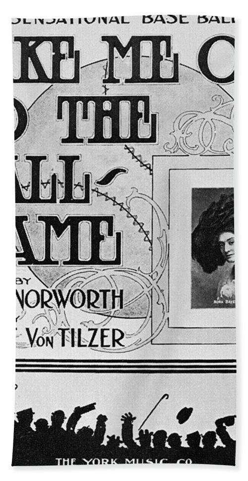 1908 Beach Towel featuring the photograph Sheet Music: Take Me Out by Granger