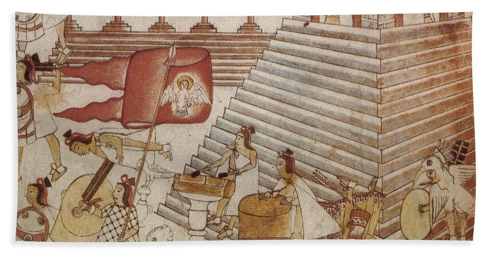 Art Beach Towel featuring the photograph Siege Of Tenochtitlan 1521 by Photo Researchers