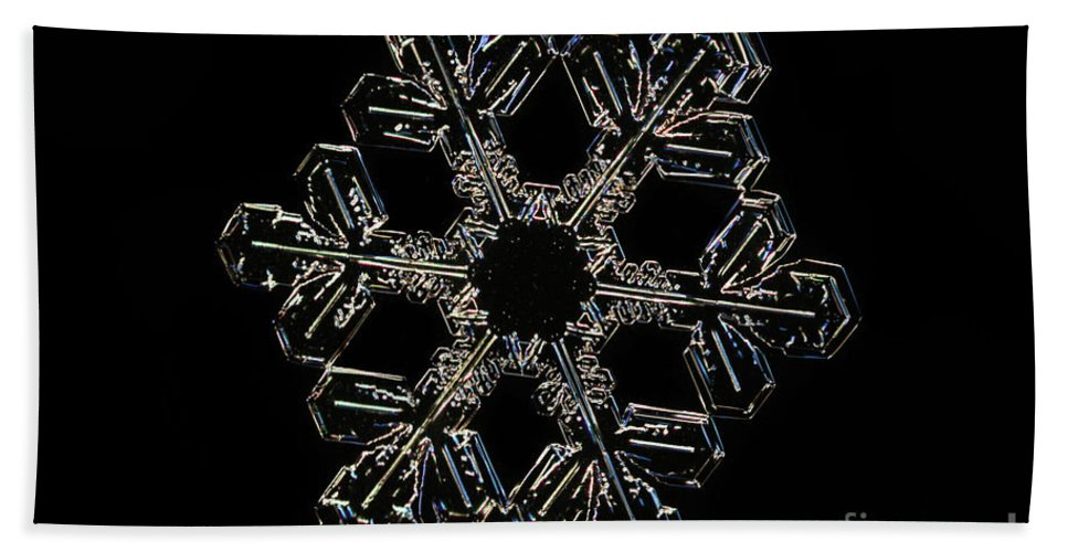 Snow Beach Towel featuring the photograph Snowflake by Ted Kinsman