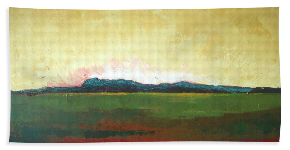 Landscape Beach Towel featuring the painting Sunrise by Vesna Antic