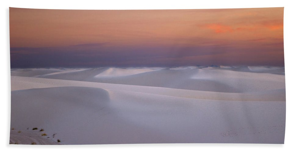New Mexico Beach Towel featuring the photograph Sunset At White Sands by Sean Wray