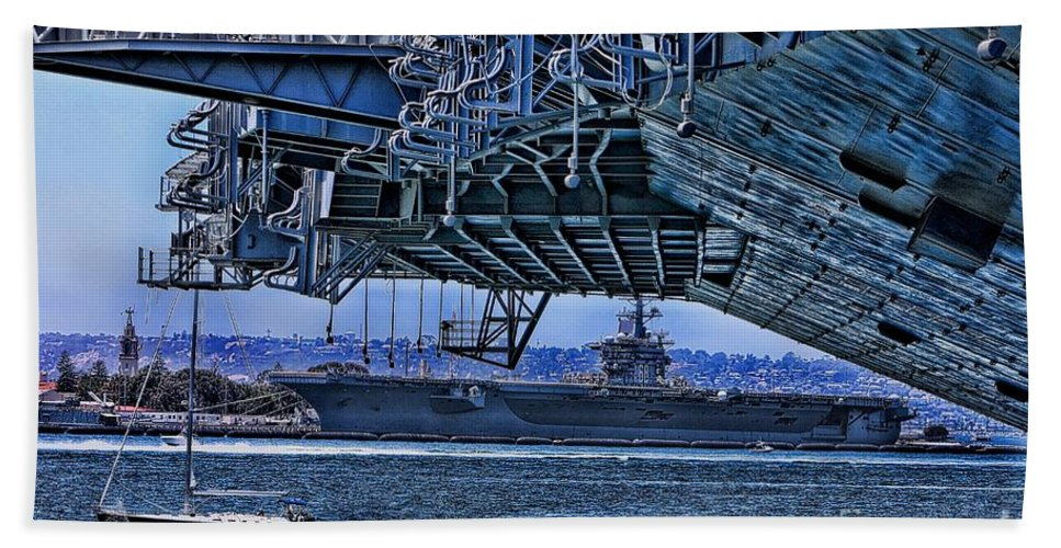 Aircraft Carriers Beach Towel featuring the photograph The Carriers by Tommy Anderson