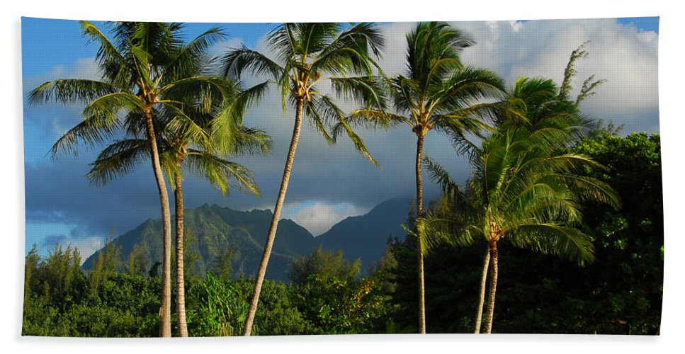 Tropical Landscapes Beach Towel featuring the photograph Tropical Beauty by Lynn Bauer