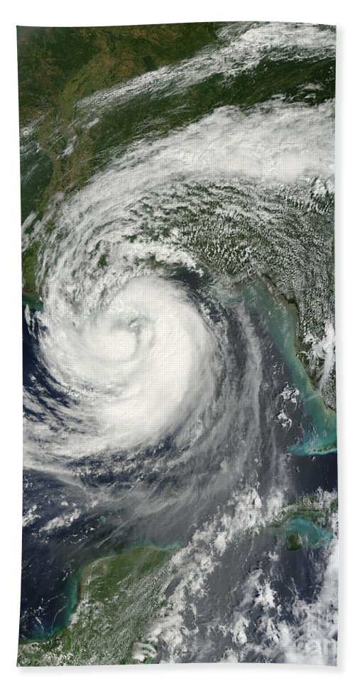 Vertical Beach Towel featuring the photograph Tropical Storm Isaac Moving by Stocktrek Images