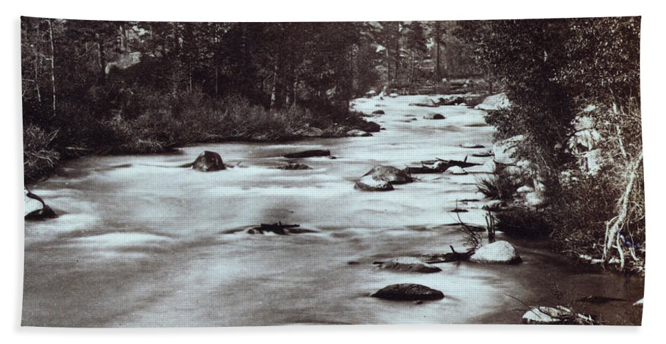 Truckee Beach Towel featuring the photograph Truckee River - California - C 1865 by International Images