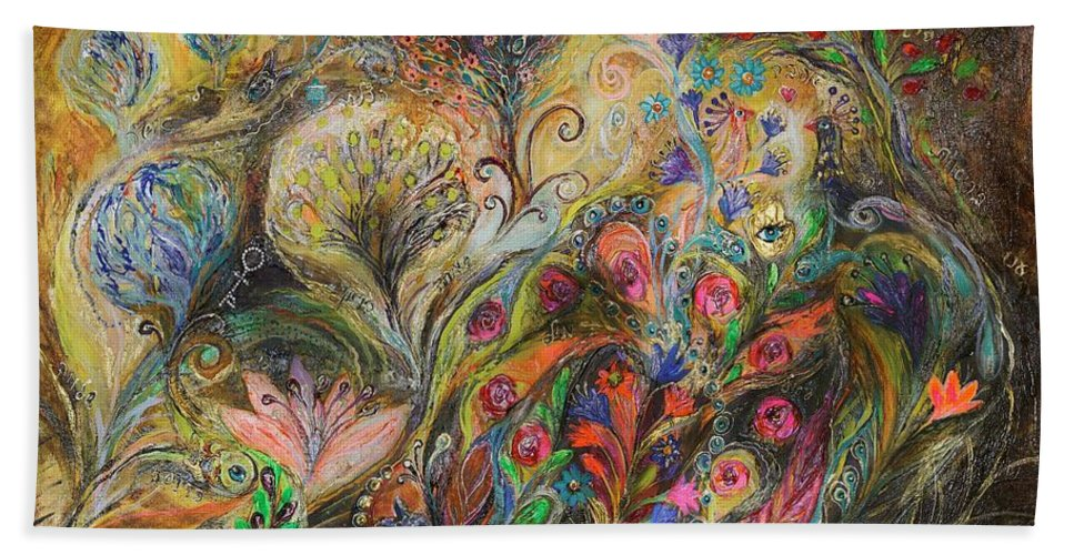 Judaica Beach Towel featuring the painting Under The Wind by Elena Kotliarker
