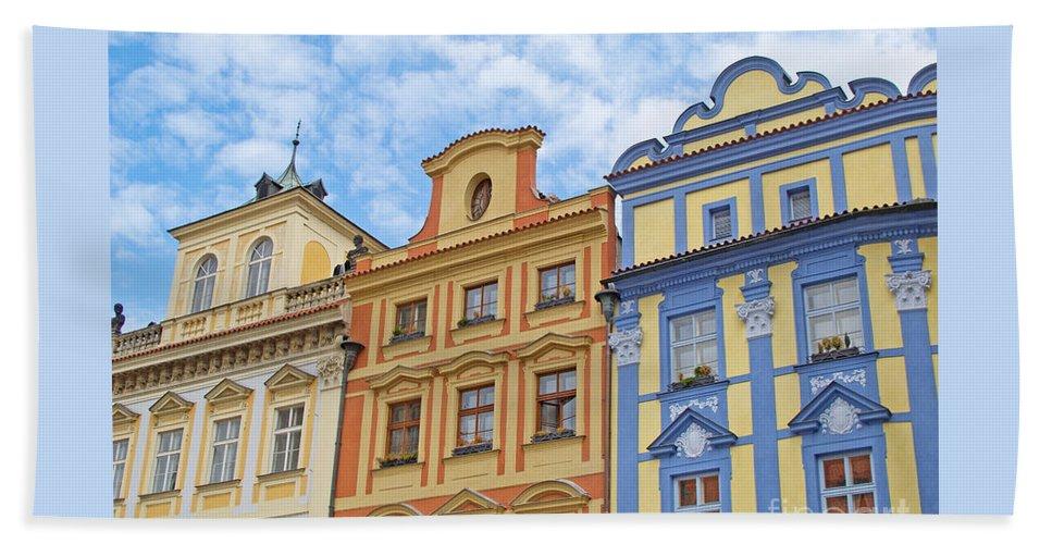 Prague Beach Towel featuring the photograph Uniquely Prague by Ann Horn